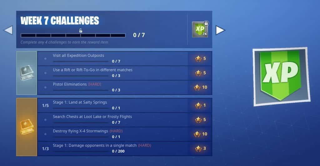 Fortnite Season 7 Week 7 challenges