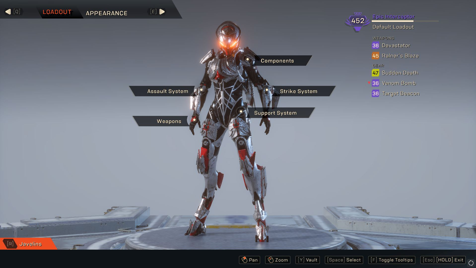Photo of Anthem has bad loadout and gear management feature