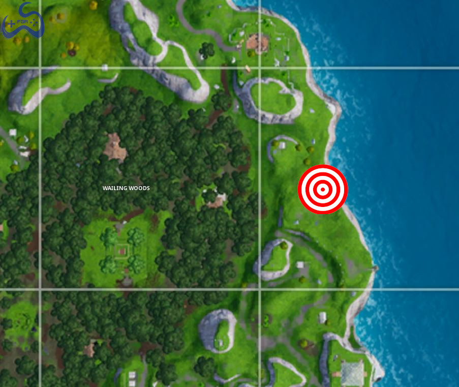 we started at the east of wailing woods the exact location of the shooting gallery - all shooting ranges in fortnite