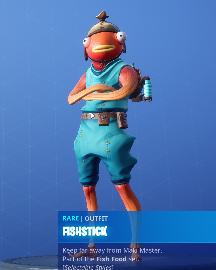 Fortnites Fishstick Skin Now Has Two Different Styles