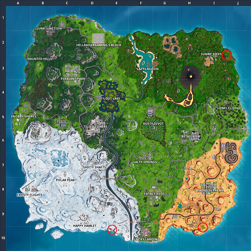 Photo of Where to Visit a giant face in the desert, the jungle and the snow in Fortnite