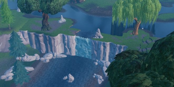 "Where to ""Visit different waterfalls"" in Fortnite"