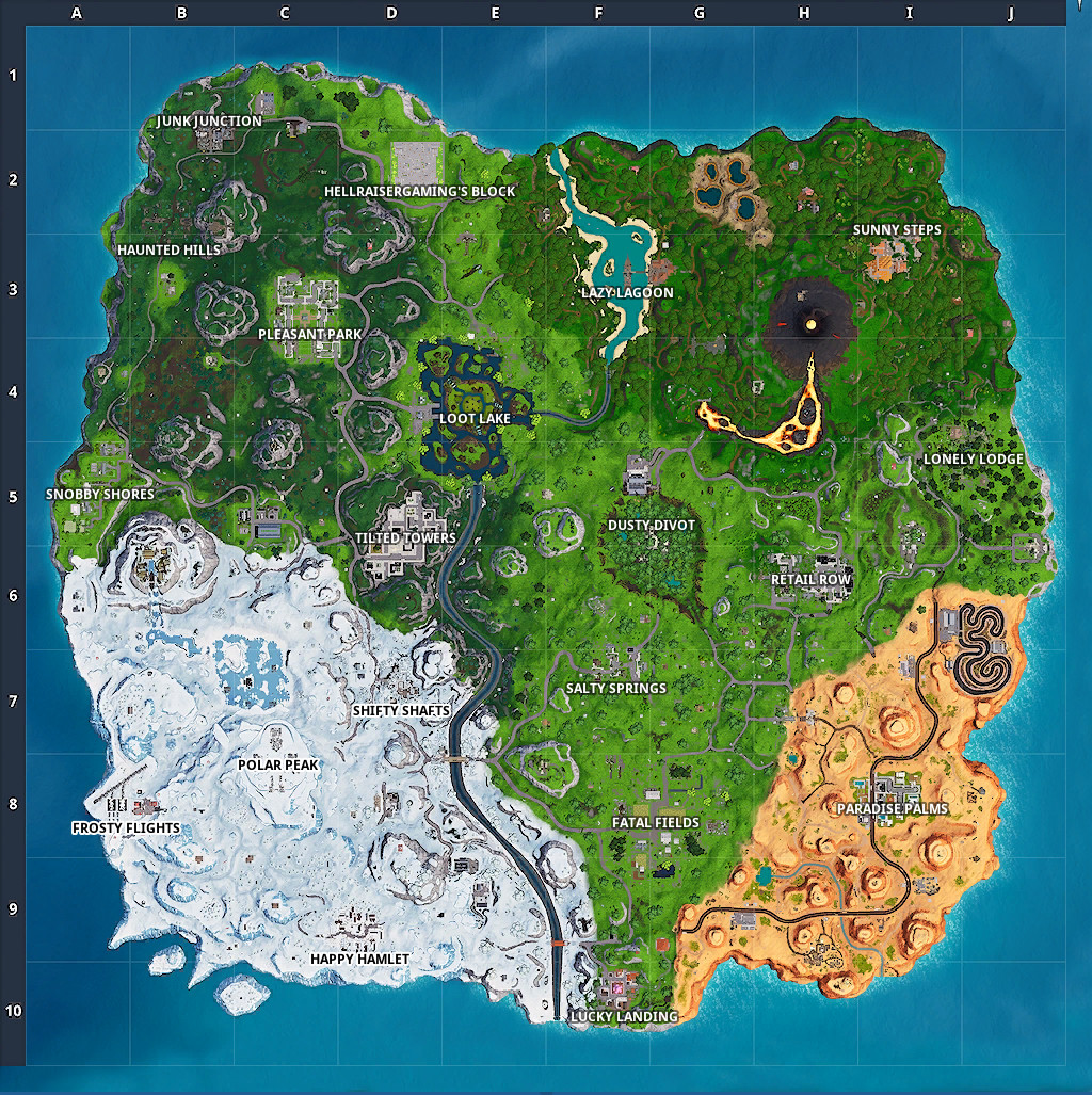 Fortnite Season 8 Map Changes Compared to Season 7 on early world maps, map projection, history of cartography, grid reference, geographic coordinate system, satellite imagery, geographic feature, cartography of the united states, geographic information system, global map,