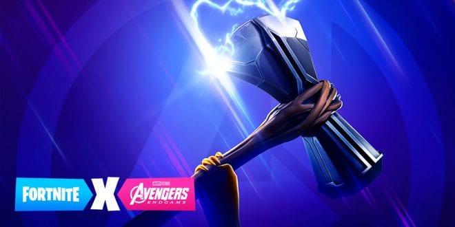 fortnite x avengers teaser 2 released mjolnir on the lookout