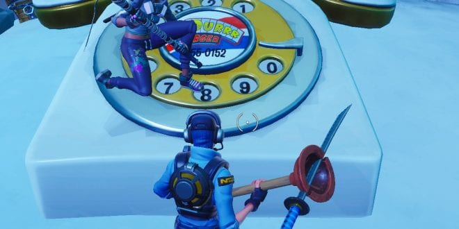 fortnite where and how to dial the durrr burger number on the big telephone west of fatal fields - telefon von pizza pit fortnite