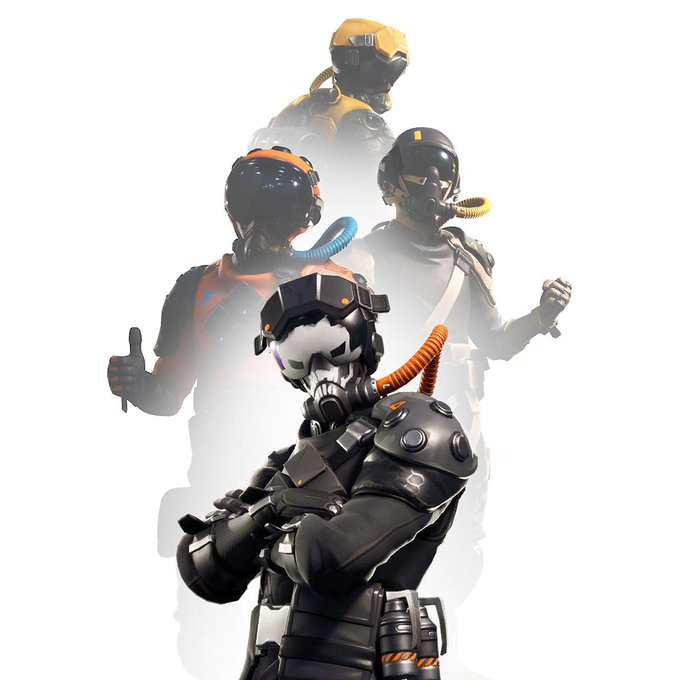 "Photo of Pilot Skins ""PilotSkull"" datamined in Fortnite patch 8.40"
