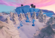 Fortnite: Where to Dance between Three Ice Sculptures