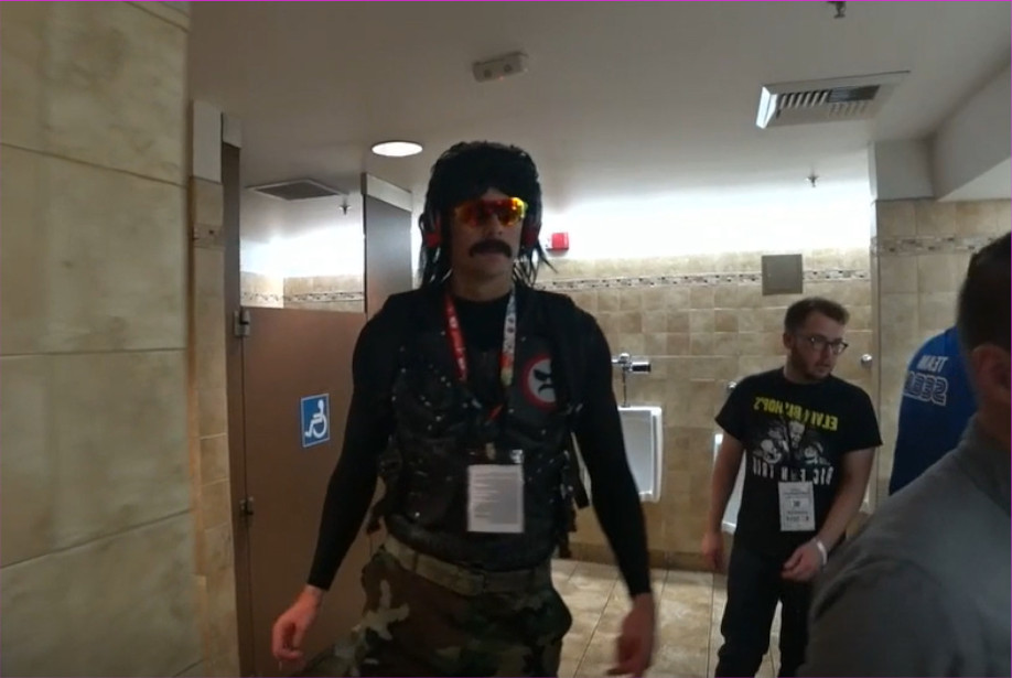 Photo of DrDisrespect banned from Twitch after recording in Public Bathroom at E3 2019