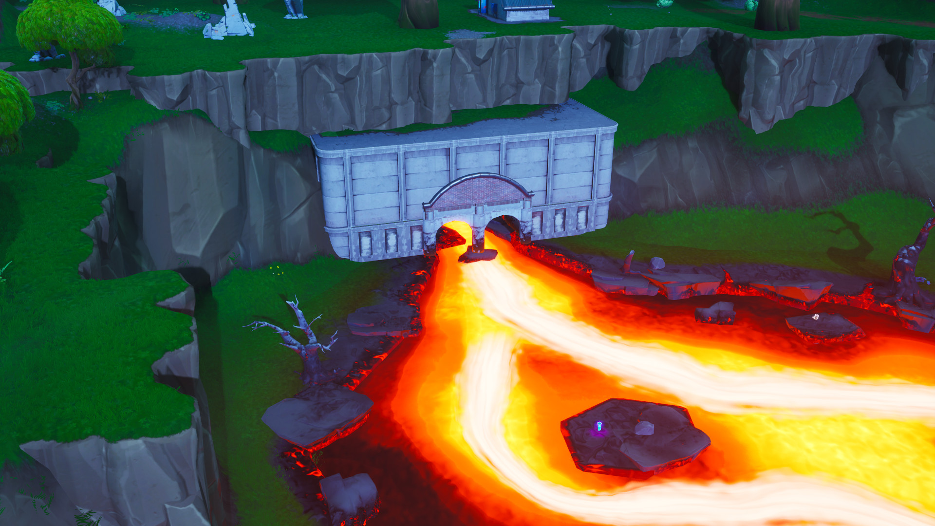 Photo of Fortbyte #12 Location, Accessible by using the Nana Nana Spray Inside a Molten Tunnel
