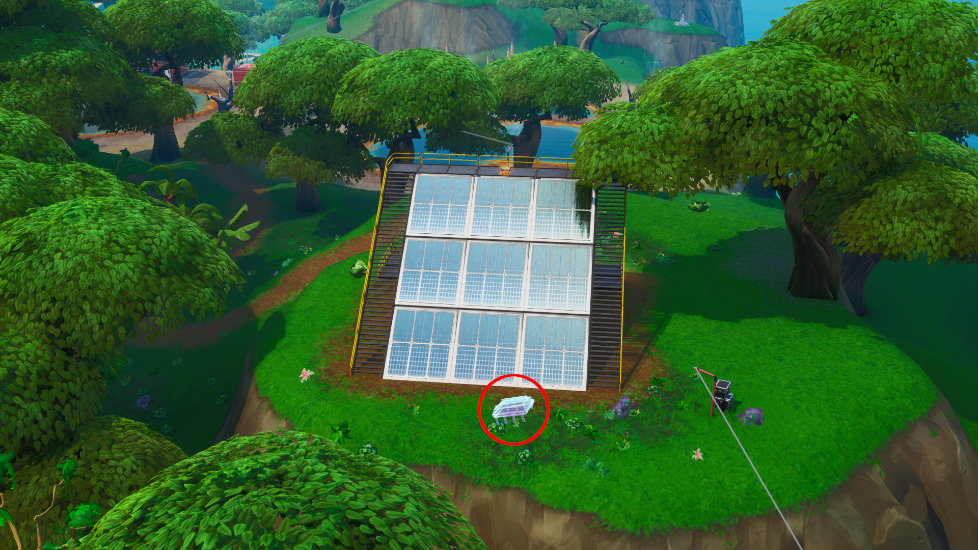 Photo of Fortbyte #95 Location, Found at a Solar Panel Array in the Jungle