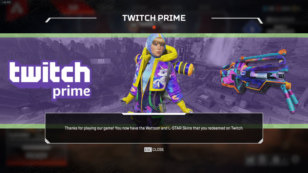 Apex Legends Twitch Prime Skin for Wattson is now available