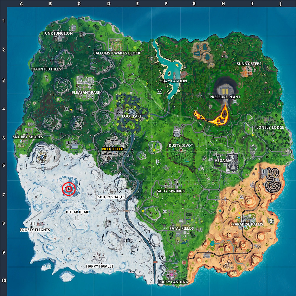 Fortnite Fortbyte #94 Location