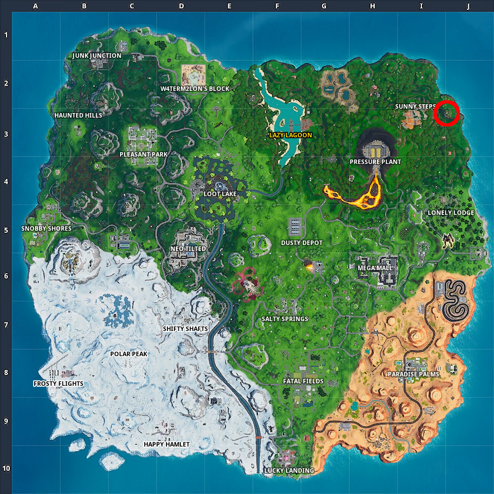 Week 4 Secret Battle Star Location
