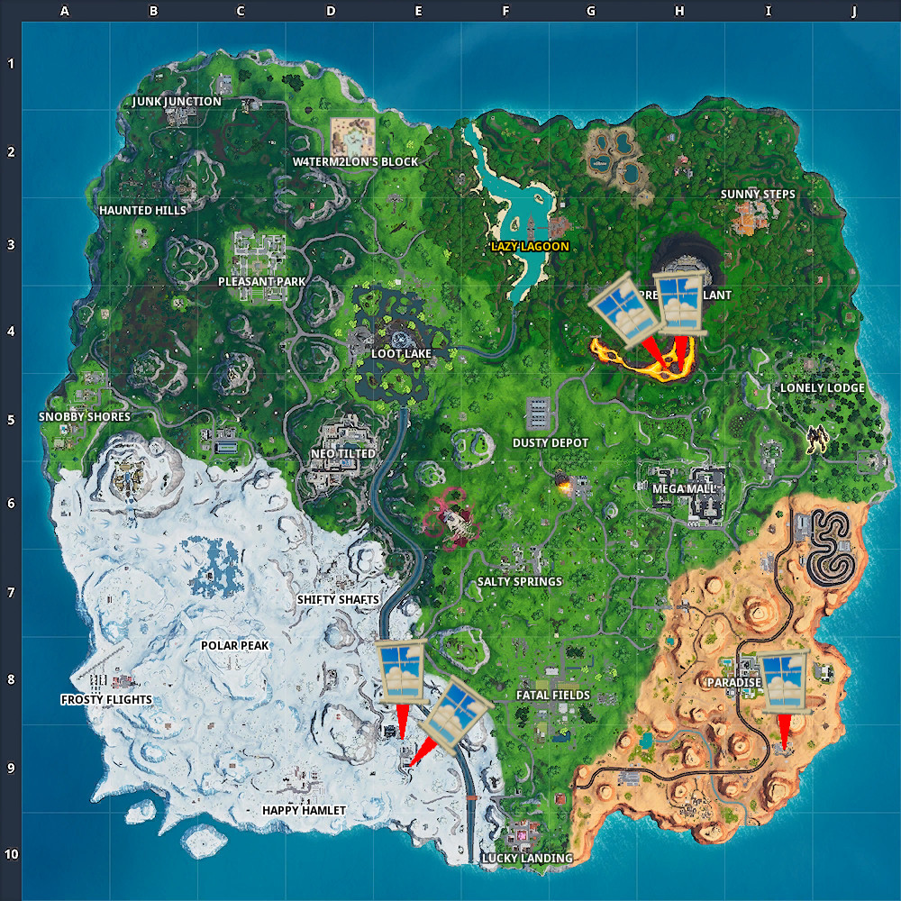 Fortnite Window Containers Locations
