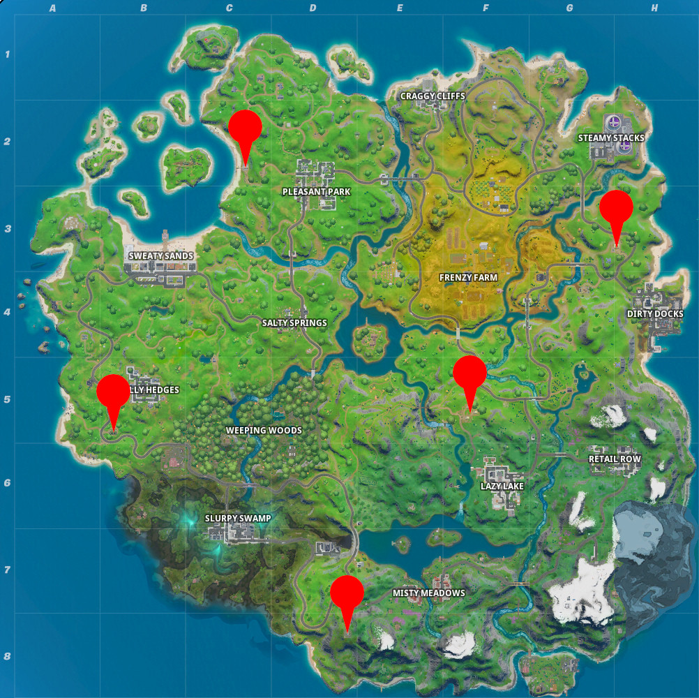 Fortnite Ego Outposts Locations