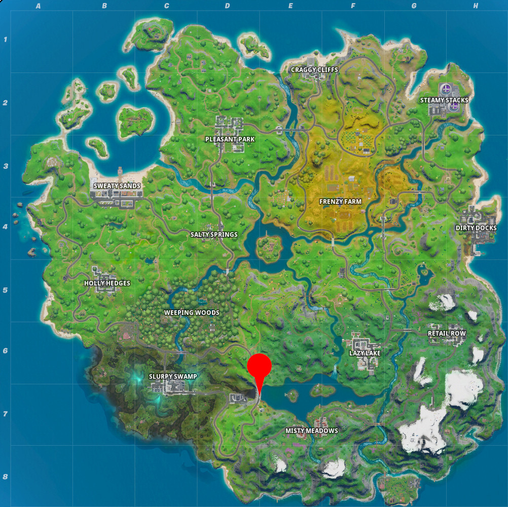 Fortnite Letter E Map Location
