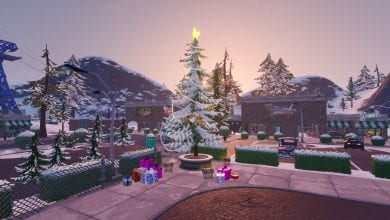 Photo of Fortnite Winterfest Day 6 Dance at Holiday Trees In Different Named Locations