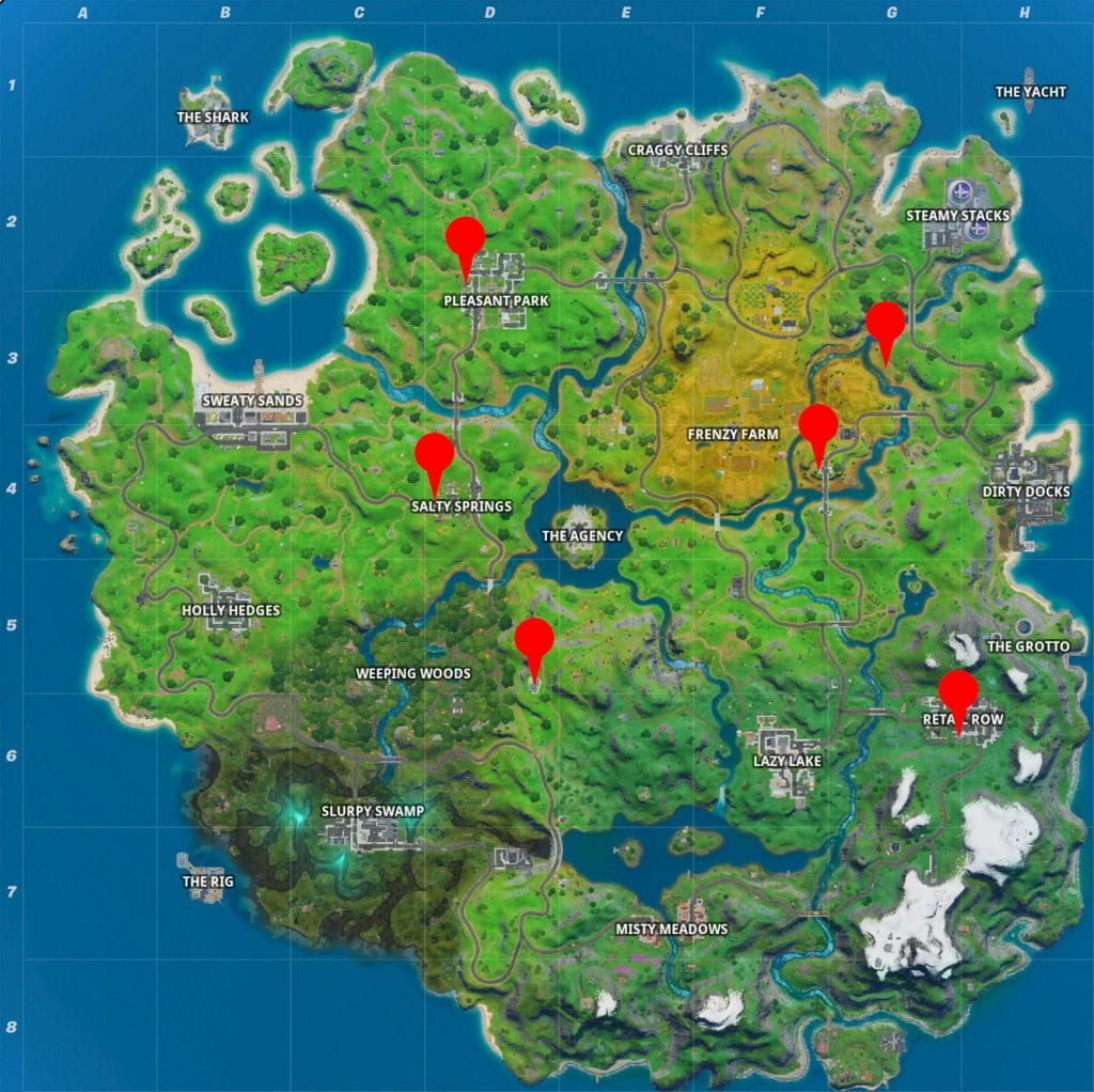 Fortnite: Where To Destroy Toilets