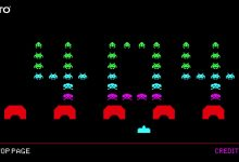 Photo of Taito Japan 404 Error Page featuring Space Invaders