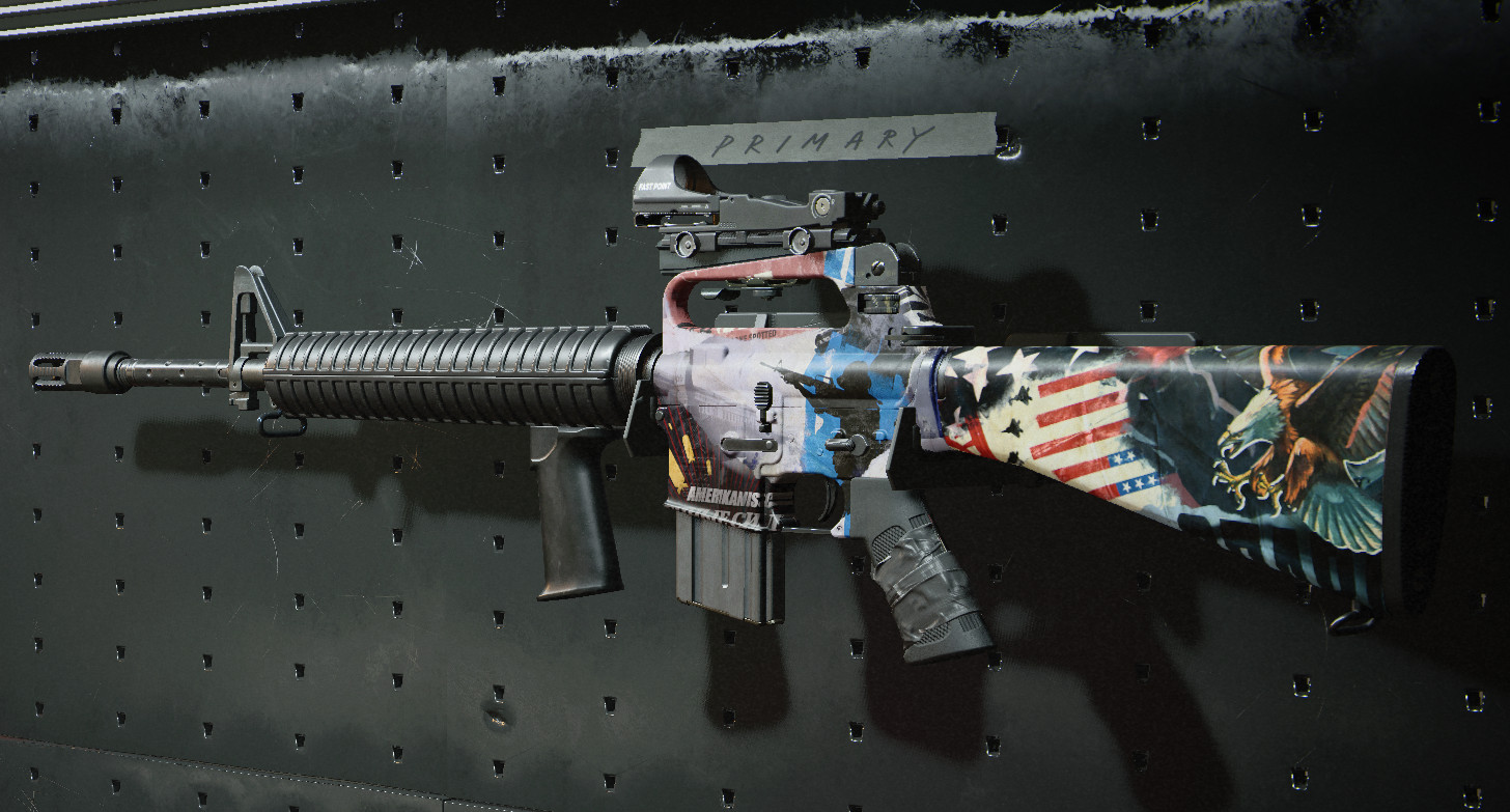 The M16 tactical rifle
