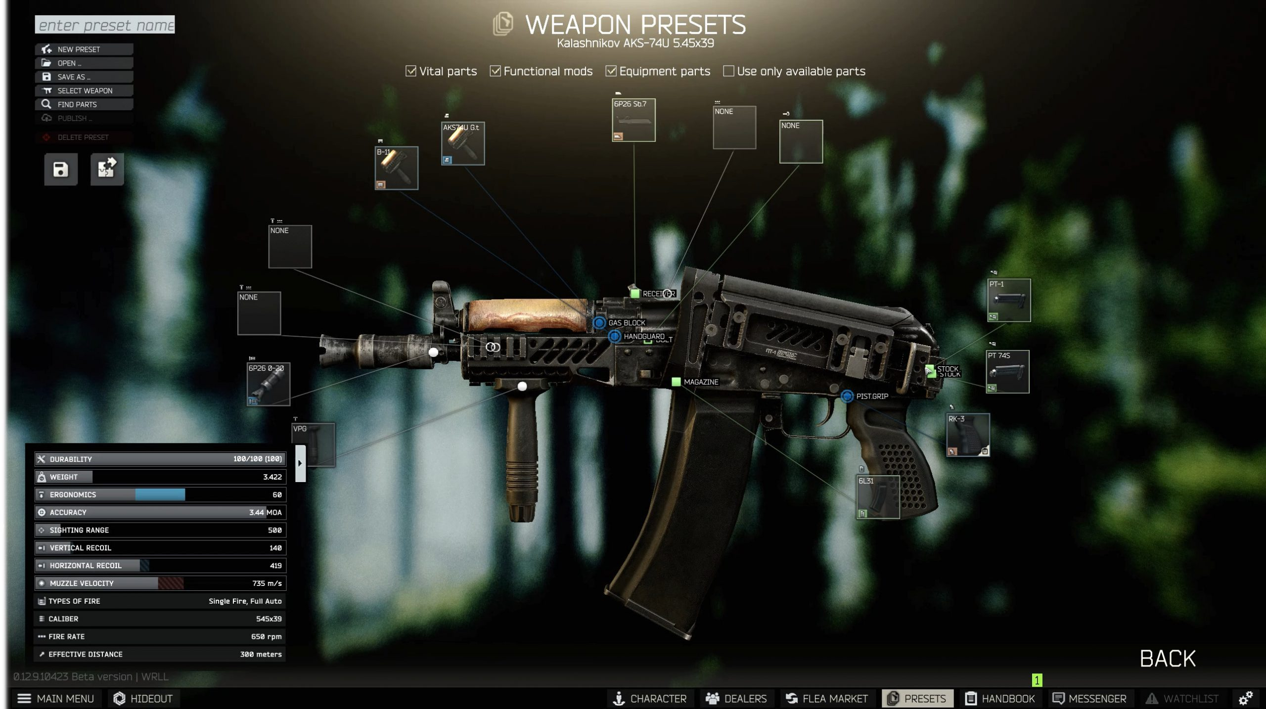 Gunsmith Part 2 Escape From Tarkov Guide No hand select will have broken and/or missing parts condition and completeness varies part number: gunsmith part 2 escape from tarkov guide