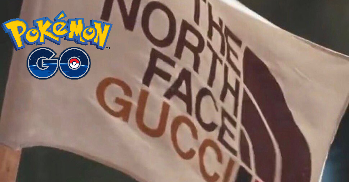Pokemon Go The North Face and Gucci Items